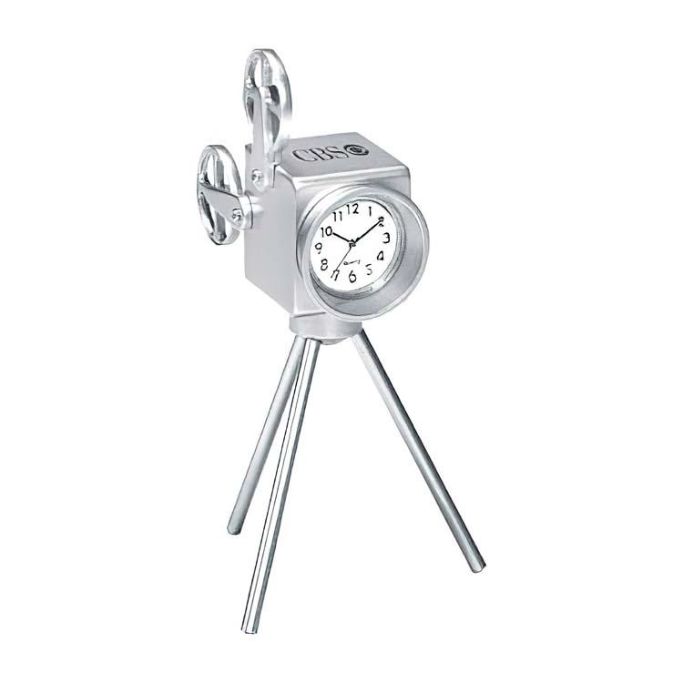 Horloge projecteur de cinéma en métal