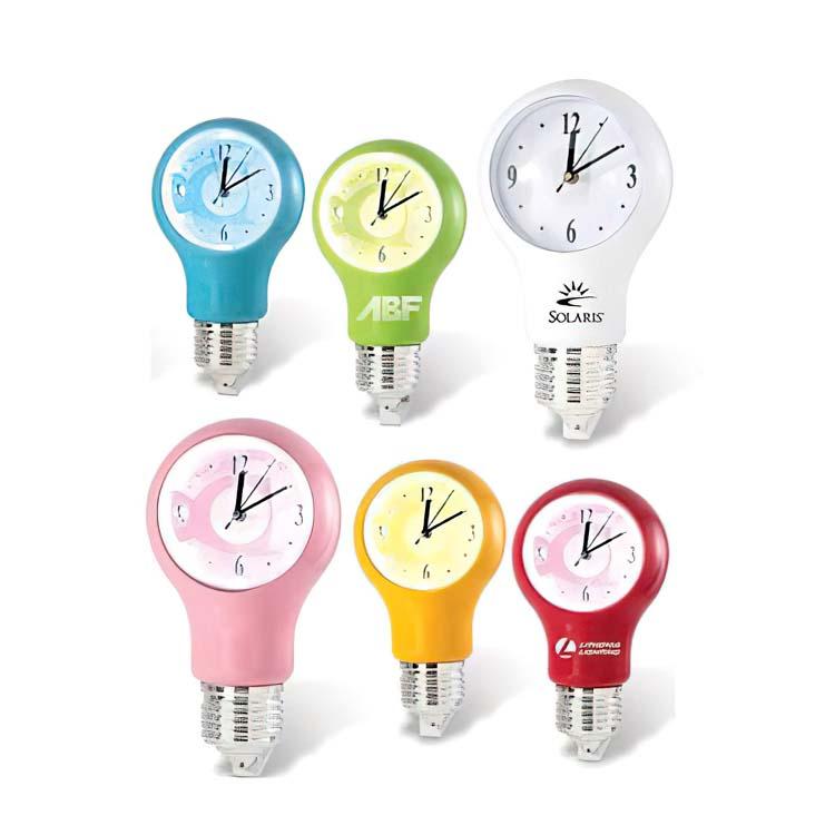 Horloge en forme d'ampoule électrique