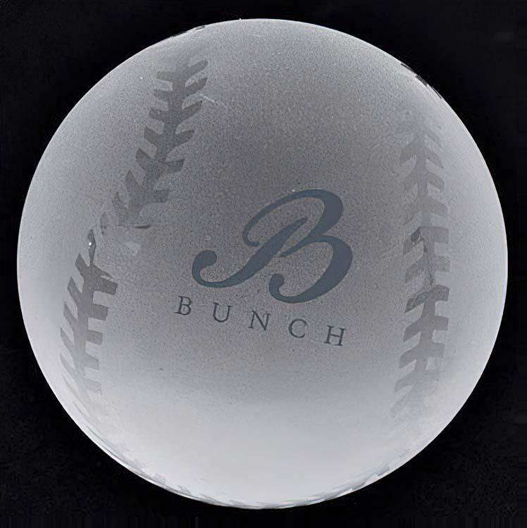 Presse-papier balle de baseball en cristal