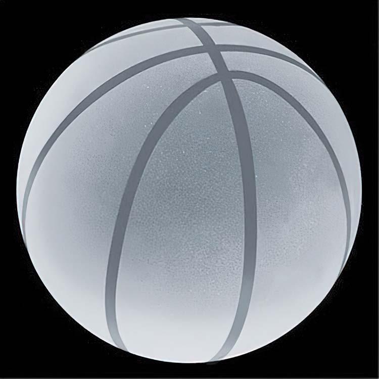 Presse-papier ballon de basketball en cristal