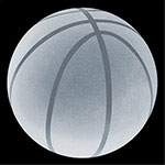 Crystal Basketball Paperweight