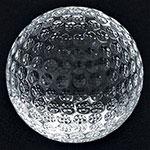 Presse-papier balle de golf en cristal