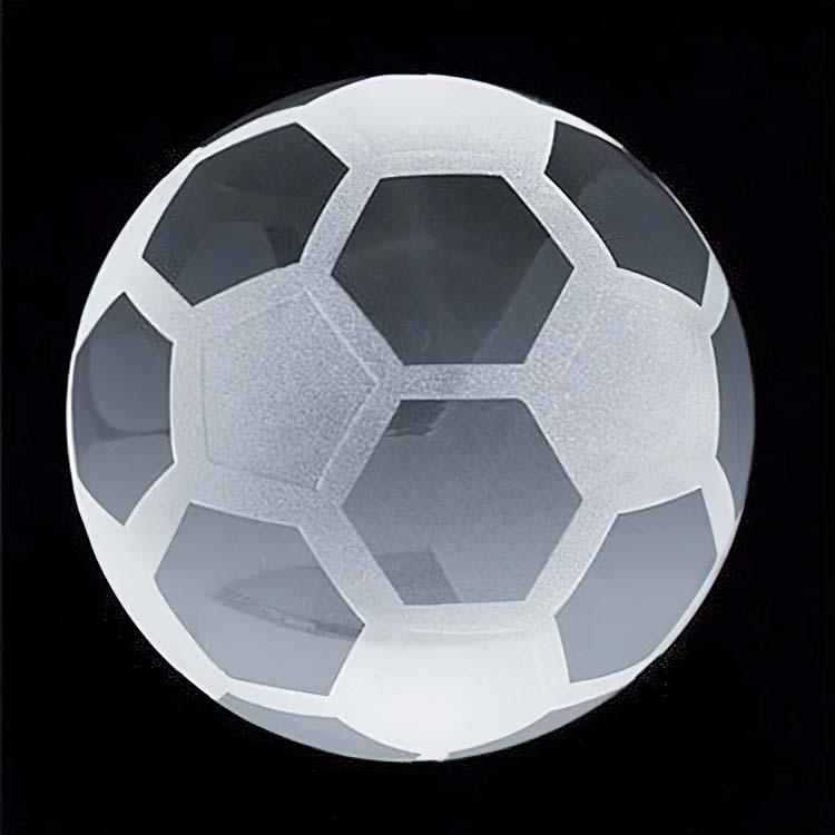 Presse-papier ballon de soccer en cristal
