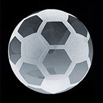 Crystal Soccer Paperweight