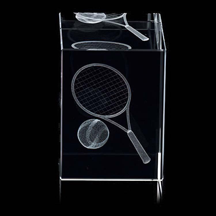 Bloc en cristal 3D - Tennis