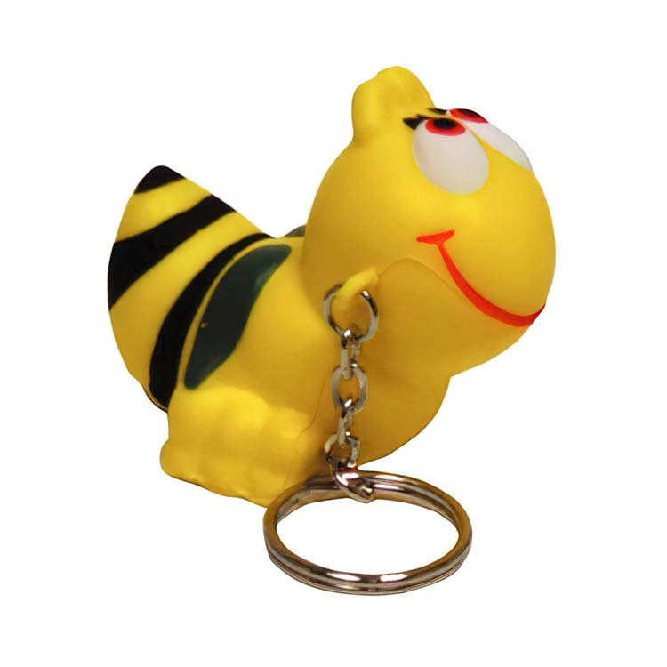 Porte-clés abeille anti-stress