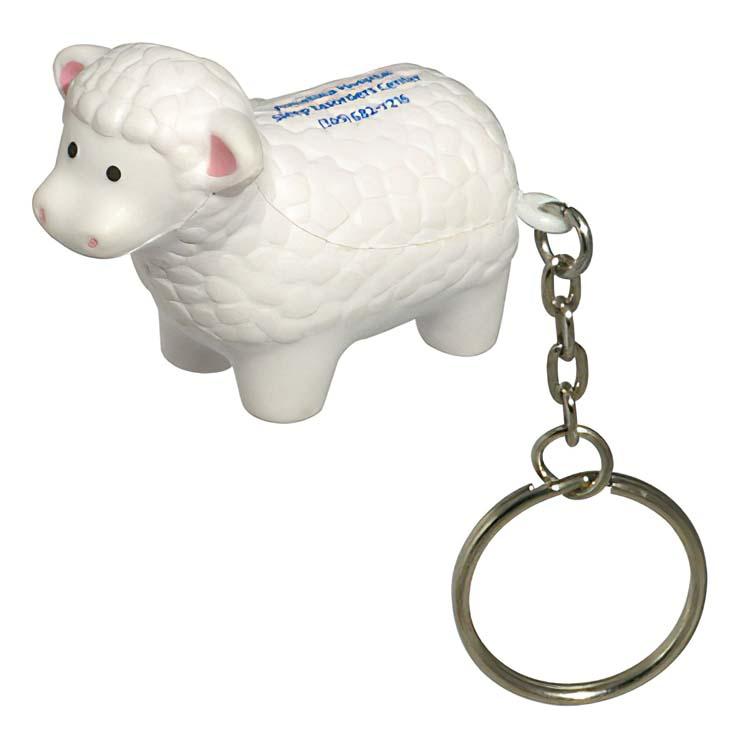 Porte-clés mouton anti-stress