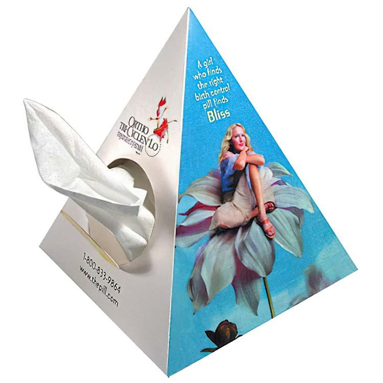 Boîte de mouchoirs pyramide