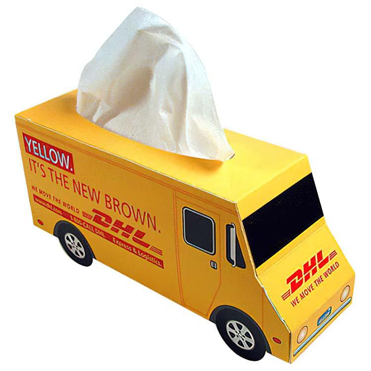 Boîte de mouchoirs - camion de livraison