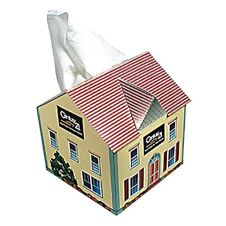 Bo te de mouchoirs en forme de maison tp23 - Boite a mouchoirs maison ...