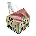 Boîte de mouchoirs en forme de maison