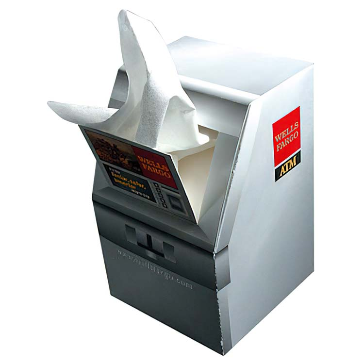 Boîte de mouchoirs en forme de guichet