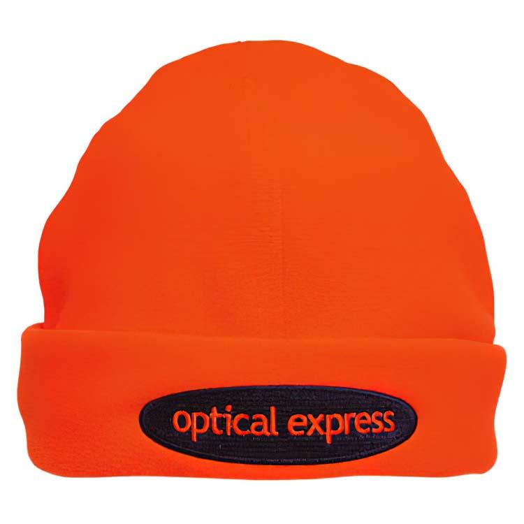 Tuque de sécurité orange voyant
