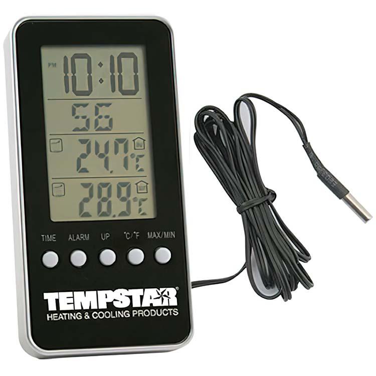 Horloge avec thermomètre intérieur et extérieur