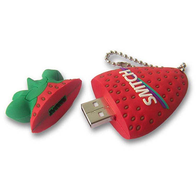 Bâton de mémoire USB en forme de fraise