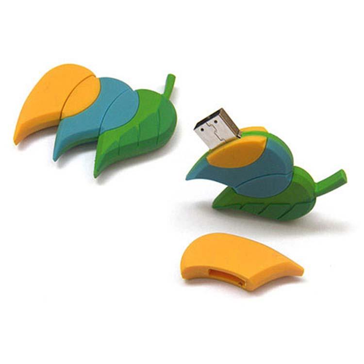 Bâton de mémoire USB en forme de feuillage