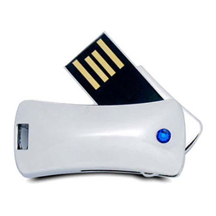 Bâton de mémoire USB chromé