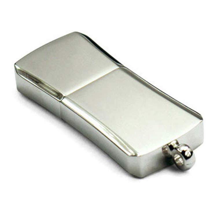 Clé de mémoire USB chromée