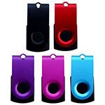 Bâton USB pivotant en aluminium coloré