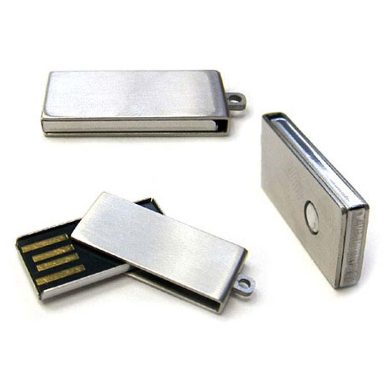 Bâton USB pivotant en métal brossé