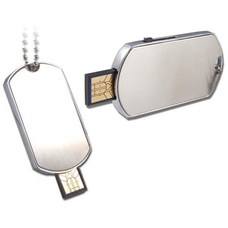 Bâton USB plaque d'identification mince