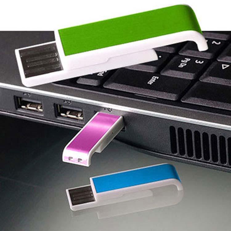 Petit bâton USB rétractable avec aluminium
