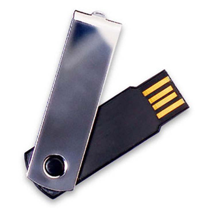 Bâton USB chrome et noir