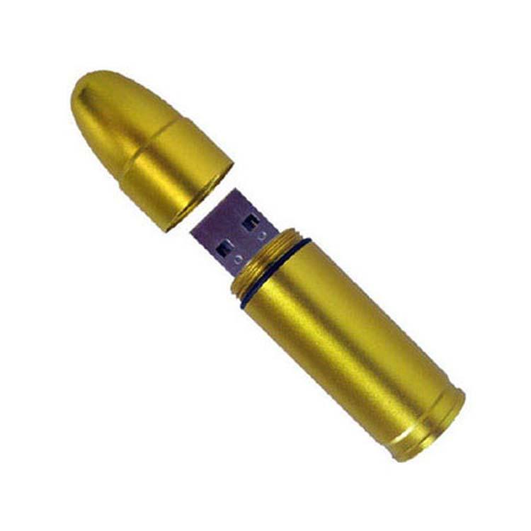 Clé USB balle de fusil - Chrome, cuivre ou cuivre mat