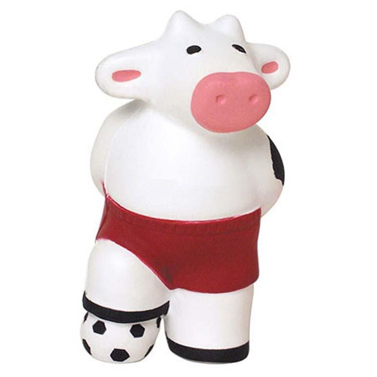 Vache jouant au soccer balle anti-stress