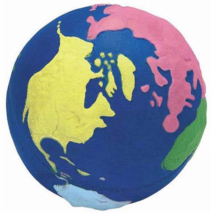 Globe terrestre multicolore balle anti-stress