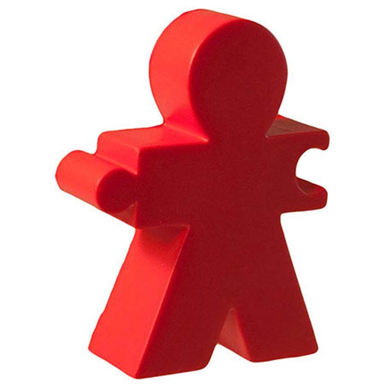 Personnage solidaire balle anti-stress - Rouge