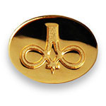 Gold Oval Lapel Pin