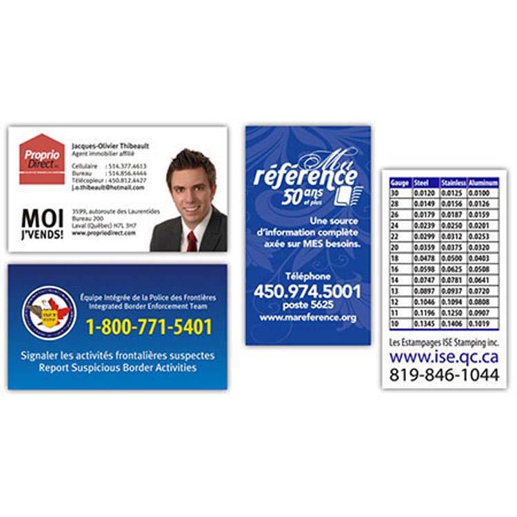 Aimant publicitaire format carte d'affaires
