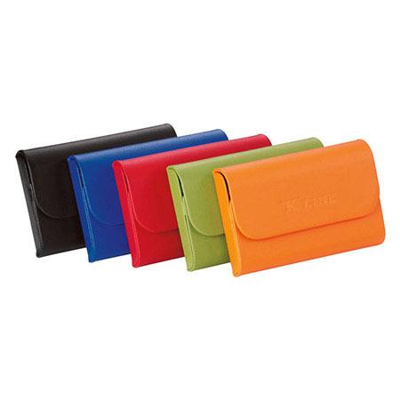 Porte cartes métallique rigide en cuir