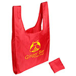 Tide Twister Folding Tote Bag - Red