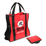 Wave Rider Folding Tote Bag - Red