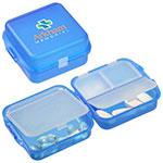 Pilulier à quatre compartiments - Bleu
