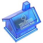 Tirelire en forme de maison - Bleu