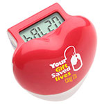 Healthy Heart Step Pedometer - Red