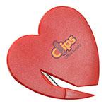Heart Letter Opener - Red