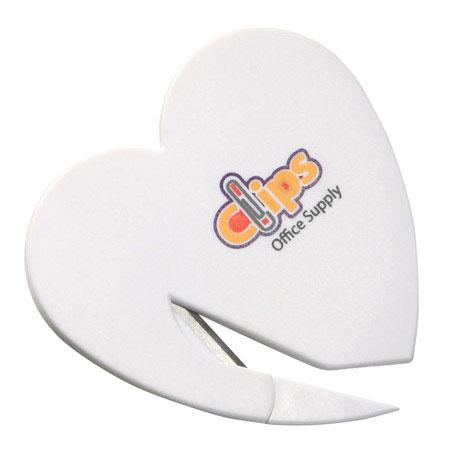 Heart Letter Opener - White