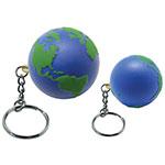 Globe porte-clés anti-stress