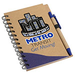 Carnet de notes avec stylo - Bleu