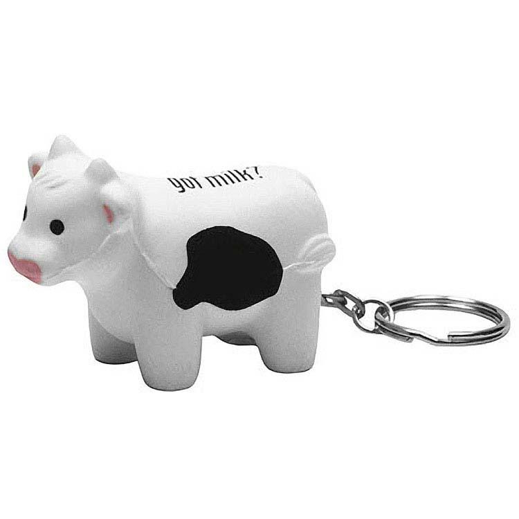 Vache anti-stress porte-clés