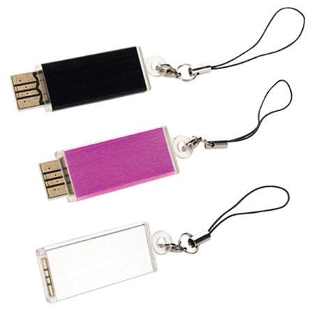 Clé USB en plastique et aluminium