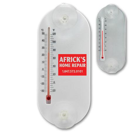 Thermomètre oval en acrylique