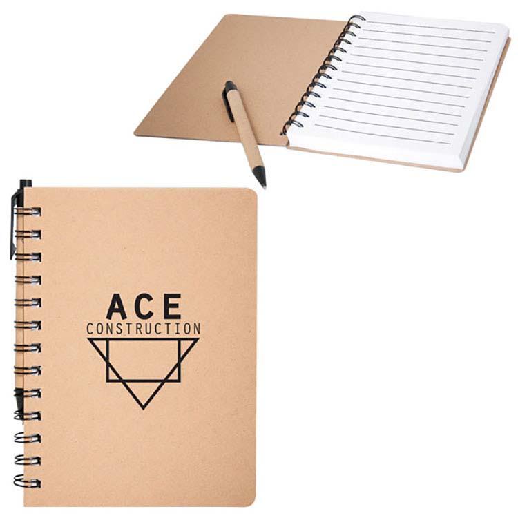 Cahier de notes recyclé avec couverture rigide