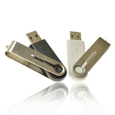 Clé USB pivotante acier inoxydable