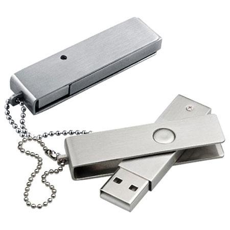 Clé USB pivotante en acier inoxydable