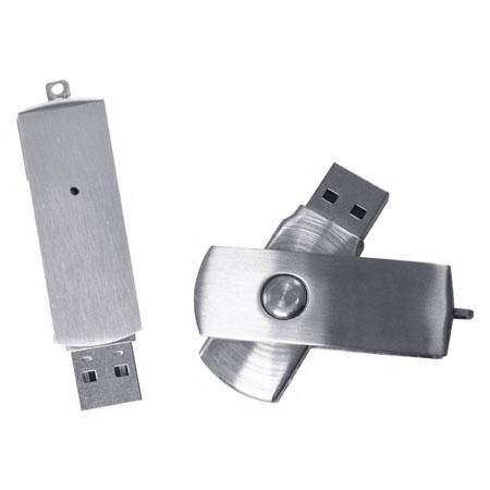Clé USB pivotante fait d'acier inoxydable